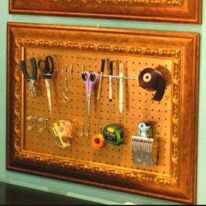 Pegboard Picture Frame