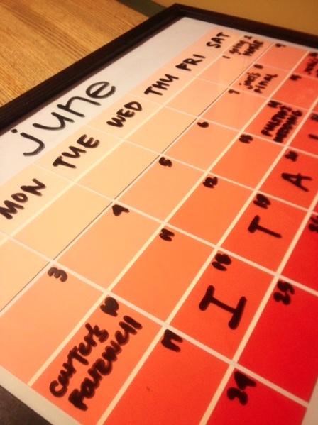 DIY Paint Sample Calendar