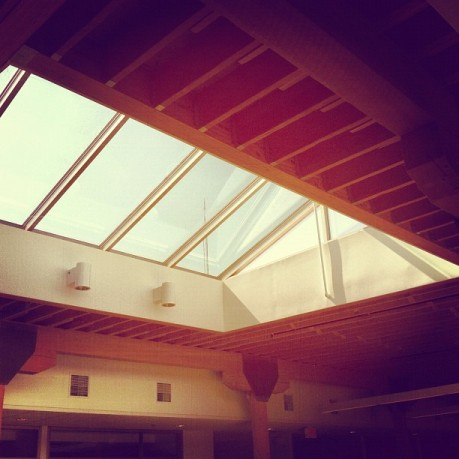 Natural light is so important in the workplace. We love our skylights!