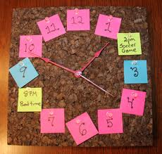 Post It Notes Crafty Clock