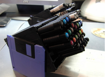 Floppy Disk Pen Holders