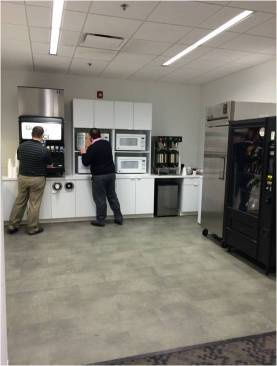 Pictured: Customer Solutions kitchen and break room