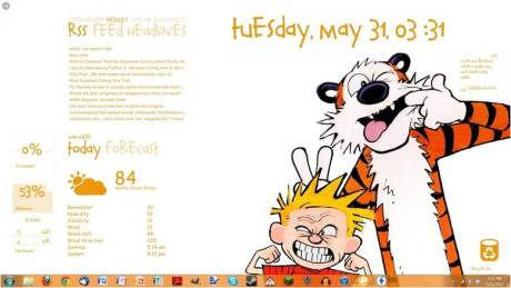 Calvin and Hobbes desktop