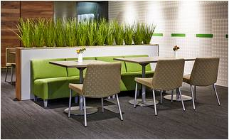 Integrate The Modular Armless Chair Into A Cafe Area To Create Booth Style Seating As Pictured Above