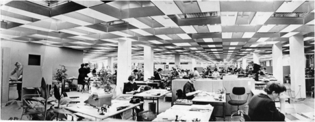 The first open plan office