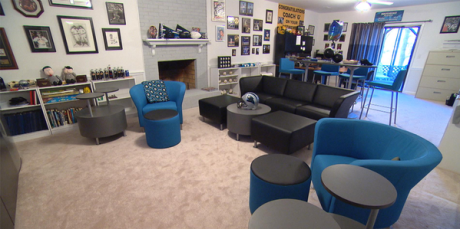 The winner of FSI Office's Ultimate Fan Cave content won this basement makeover.