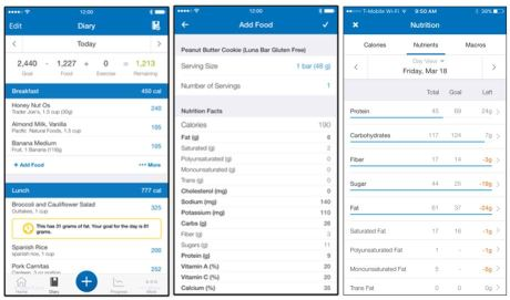 Use MyFitnessPal to stay healthy in the office