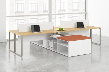 Privacy Screens with Voi Desks from HON
