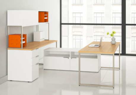 Use workspace accessories for organization