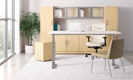 Find the worksurface height that best supports you while you work