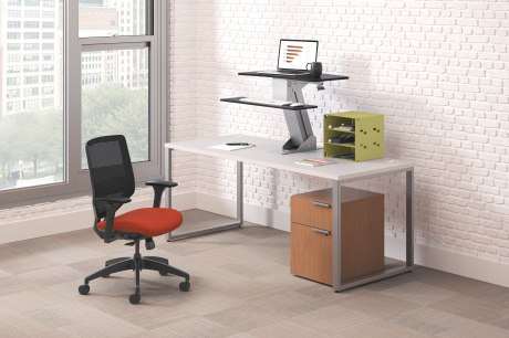 Elevate your workstyle with HON's Directional sit-to-stand solution