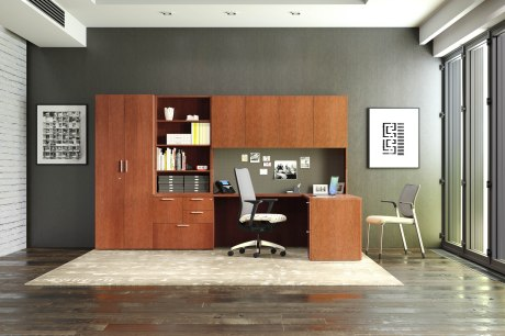 Centerpiece veneer desks bring quality front and center in any office